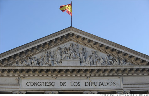 Rating agency Moody's downgraded Spain by three notches on Wednesday, expressing concern about the government's debt load and its access to financial markets.