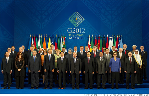 G-20: Group of 20 leaders met in Mexico as the global economy sputters and Europe struggles to stabilize its common currency.
