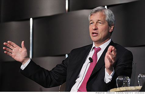 JPMorgan Chase CEO Jamie Dimon, the best paid bank CEO in 2011, according to rankings released Wednesday.