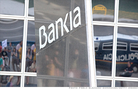 Rating agency Moody's downgraded 28 Spanish banks on Monday, after downgrading the Spanish government earlier this month.
