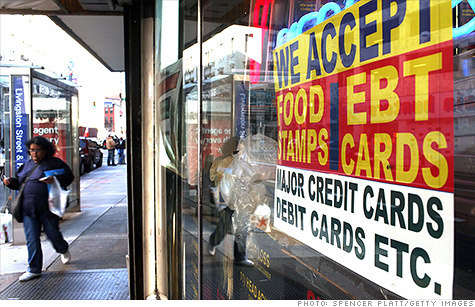 The federal government is running radio ads to boost enrollment in food stamps.