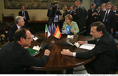 European leaders are holding a two-day summit in Brussels to come up with a roadmap to solve Europe's debt crisis.