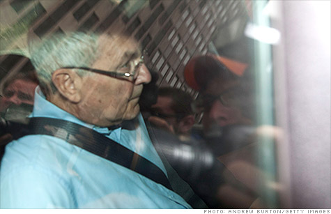 Peter Madoff, shown here after he was taken into custody by the FBI, pleaded guilty on Friday to helping his brother Bernard cover up his massive Ponzi scheme.