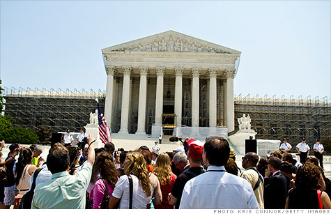 The Supreme Court rules that states can opt out of health care reform's Medicaid expansion provision.