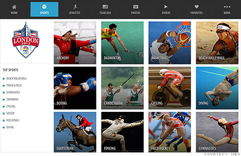 olympics streaming apps