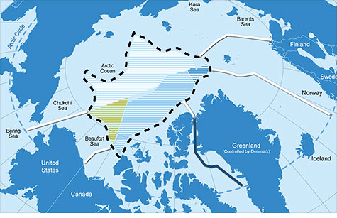 The United States missing out on an Arctic land grab because it won't ratify a treaty that would assign territorial claims at the top of the earth.