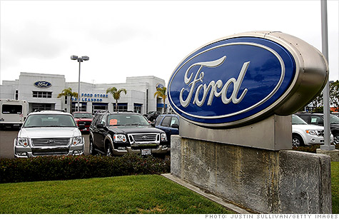Ford Motor's earnings weighed down by the economic crisis in Europe, despite a persistent rebound in U.S. car sales.