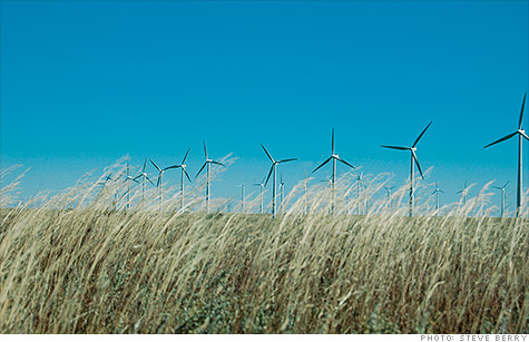 Xcel's Ponnequin Wind Farm on the Colorado-Wyoming border. The wind farm helped the utiltiy produce 57% of its power from wind one night this spring - a U.S. record.