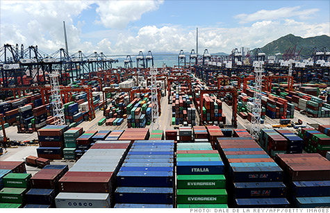 Growth in Chinese exports virtually vanished in July, according to the country's trade report Friday.