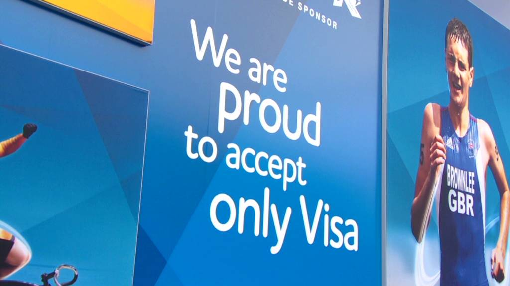 Olympics only take Visa, for a price