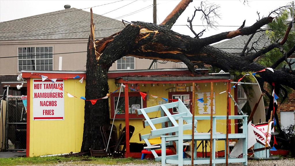 Hurricane Issac damages