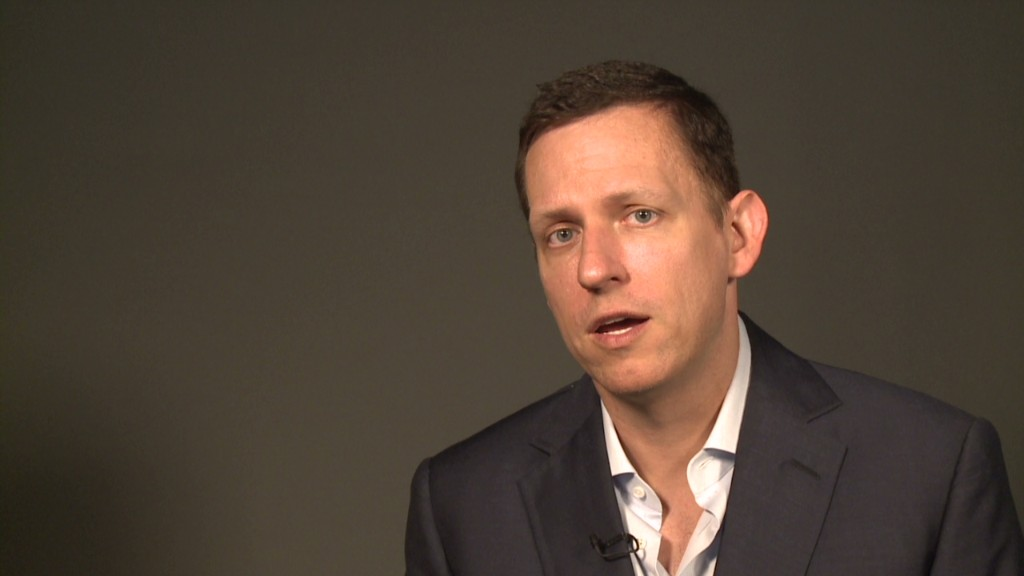 PayPal cofounder Thiel's startup advice