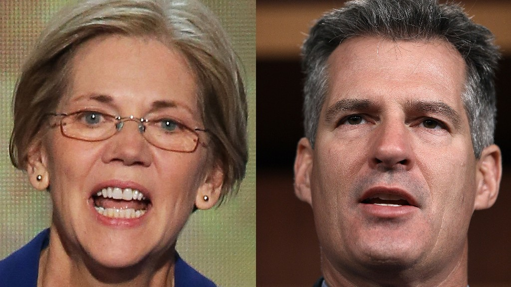 Elizabeth Warren and Scott Brown