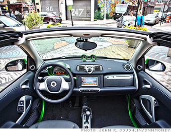 Inside The Two Seat Smart Is Surprisingly Roomy Provided You Have Only One Penger Of Course With No Backseat Legroom To Worry About Front Seats
