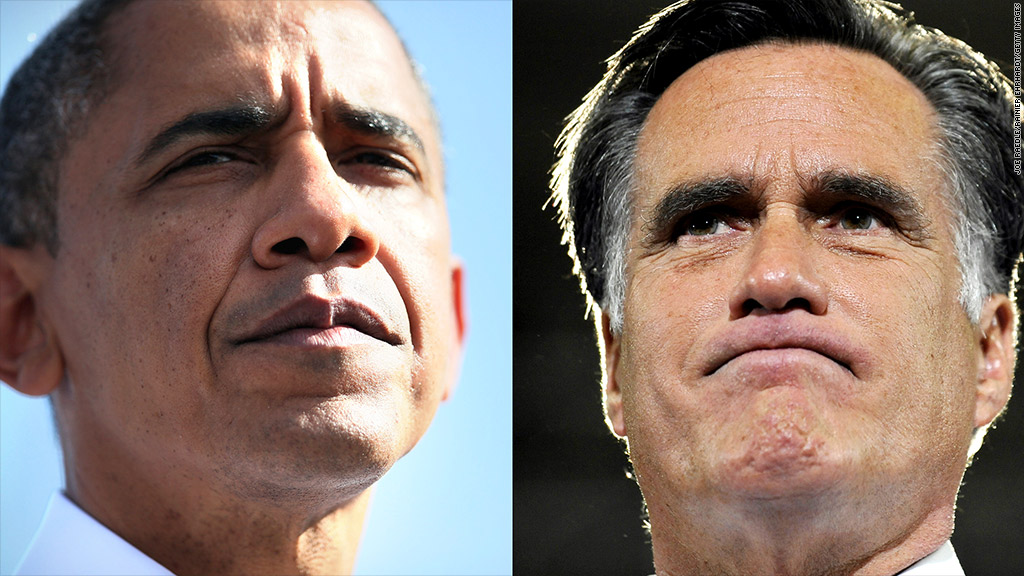 obama romney tight-lipped