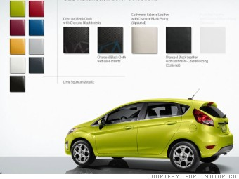gallery minicar colors ford fiesta