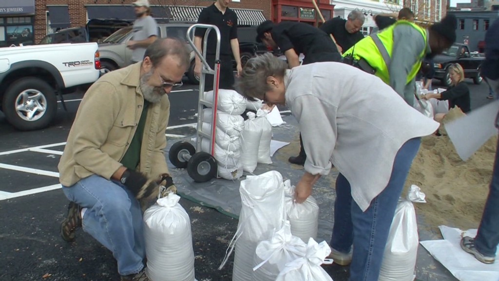 DC area gets ready for Hurricane Sandy