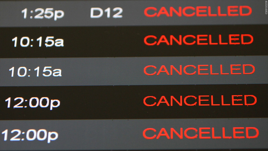 cancelled flights hurricane sandy