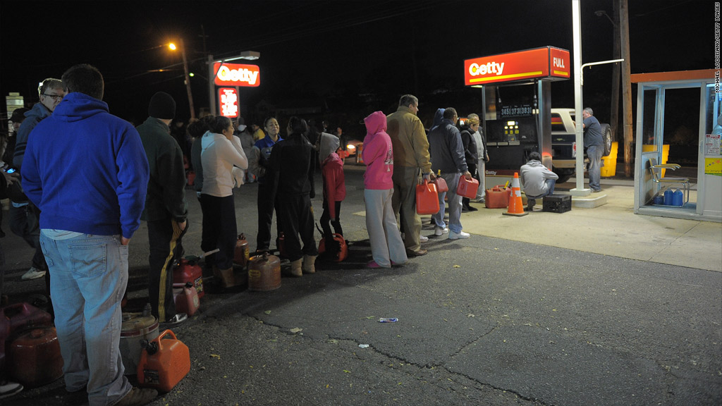 gas station line