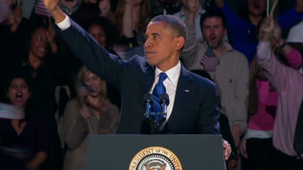 Obama's victory speech in 90 secs