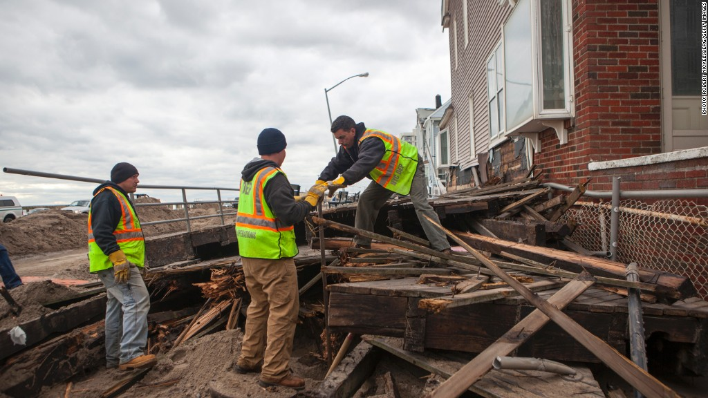 hurricane sandy cleanup efforts
