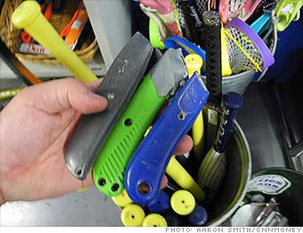 gallery tsa weapons box cutters