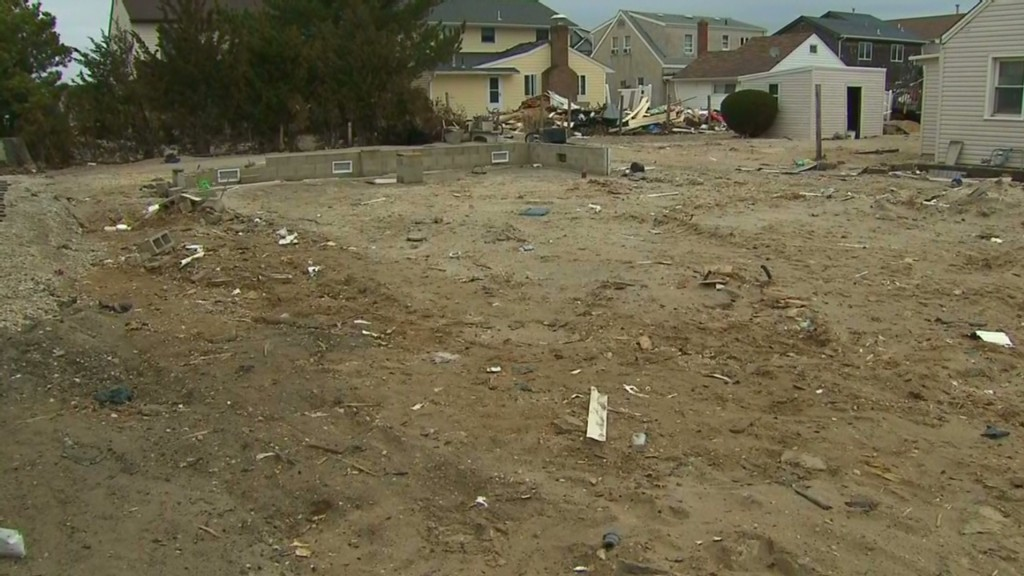 Sandy destroys home, city bulldozes it