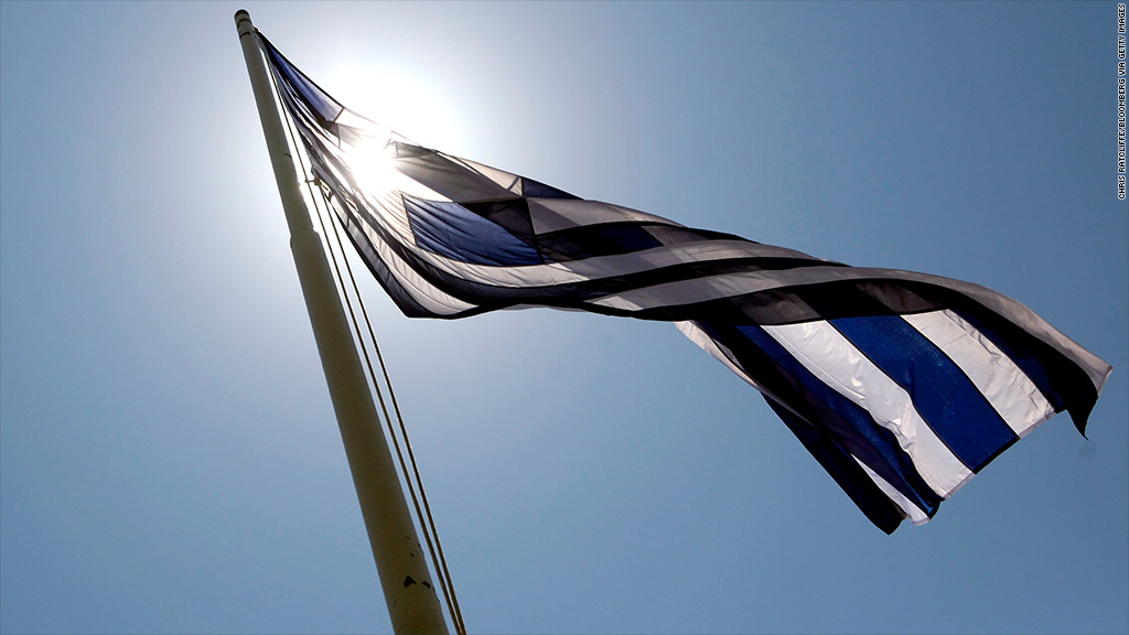 greek flag sun