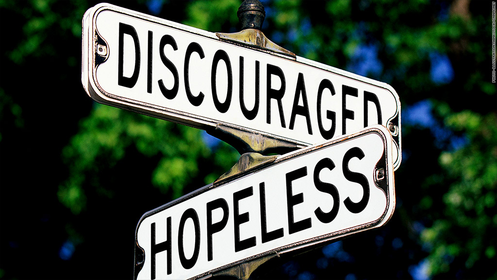hopeless discouraged jobs street sign
