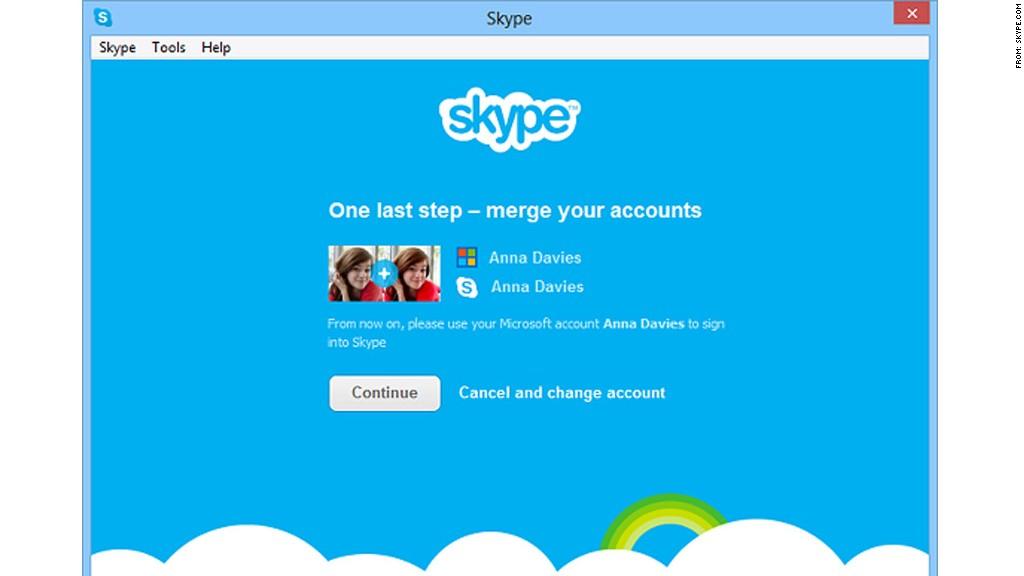 skype merge