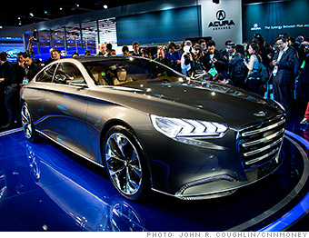 Hyundai HCD Genesis Concept Cool Cars From The Detroit Auto - Hyundai car show