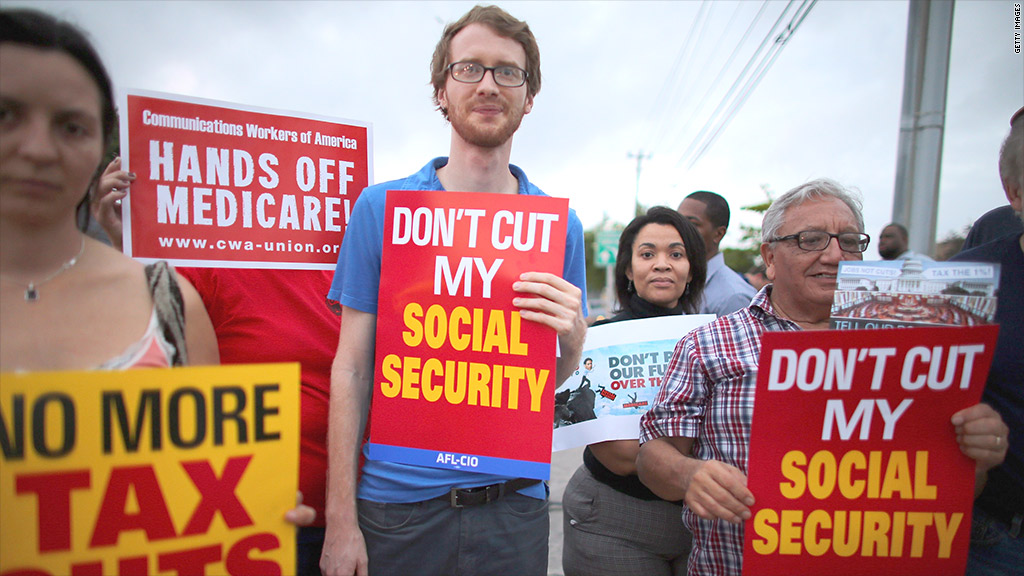 protest ss medicare cuts