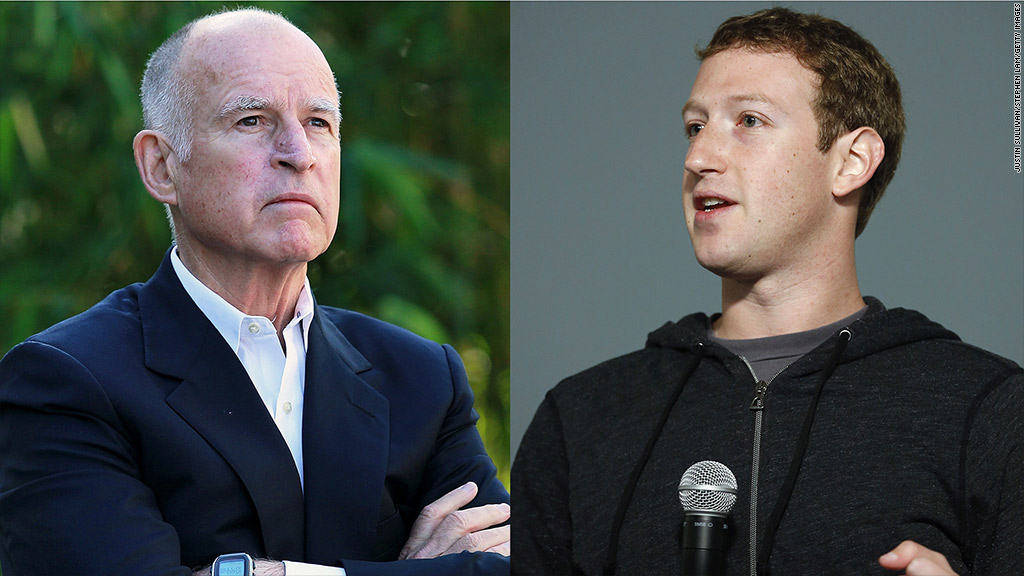 jerry brown mark zuckerberg