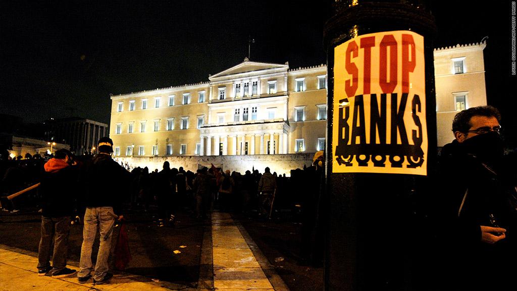 eu bank protests