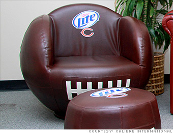 Football Shaped Chair Cool Gear For Your Super Bowl