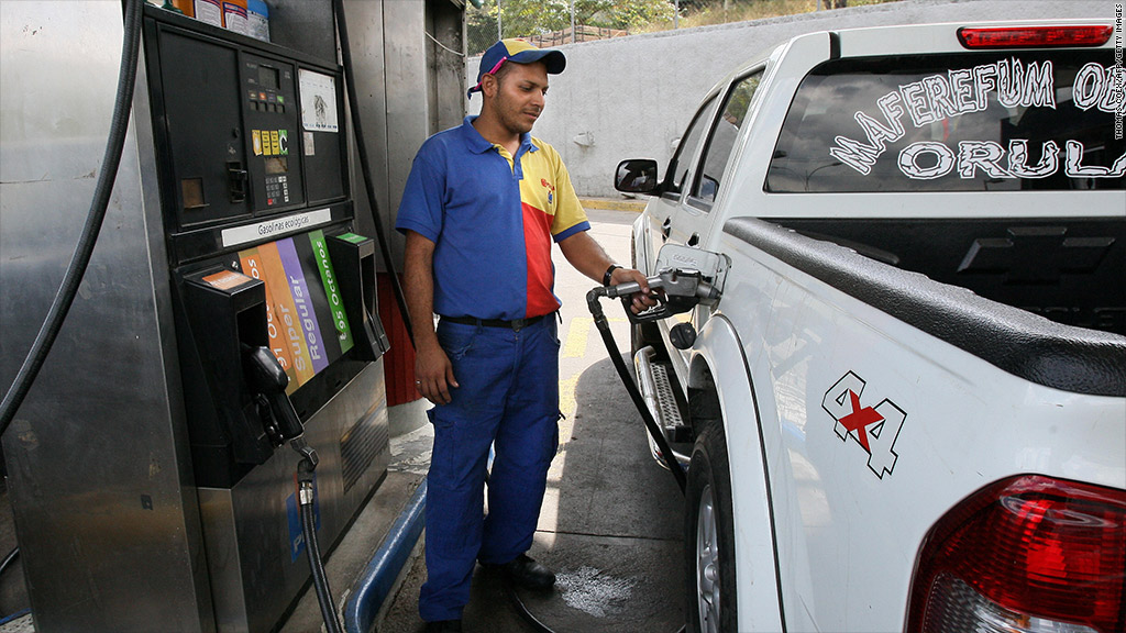 venezuela gasoline gas station