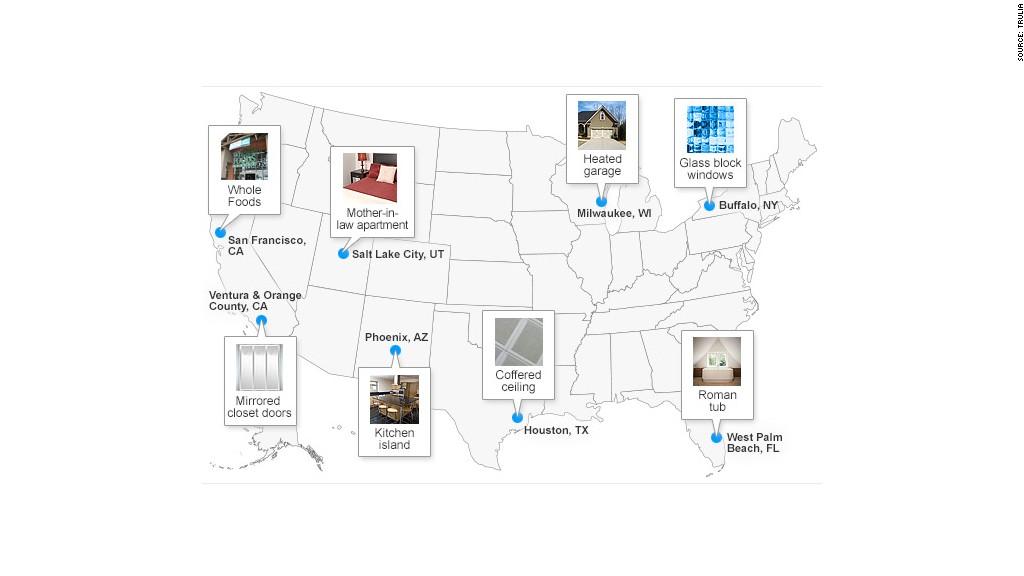 where homebuyers love mirrored closets  roman tubs