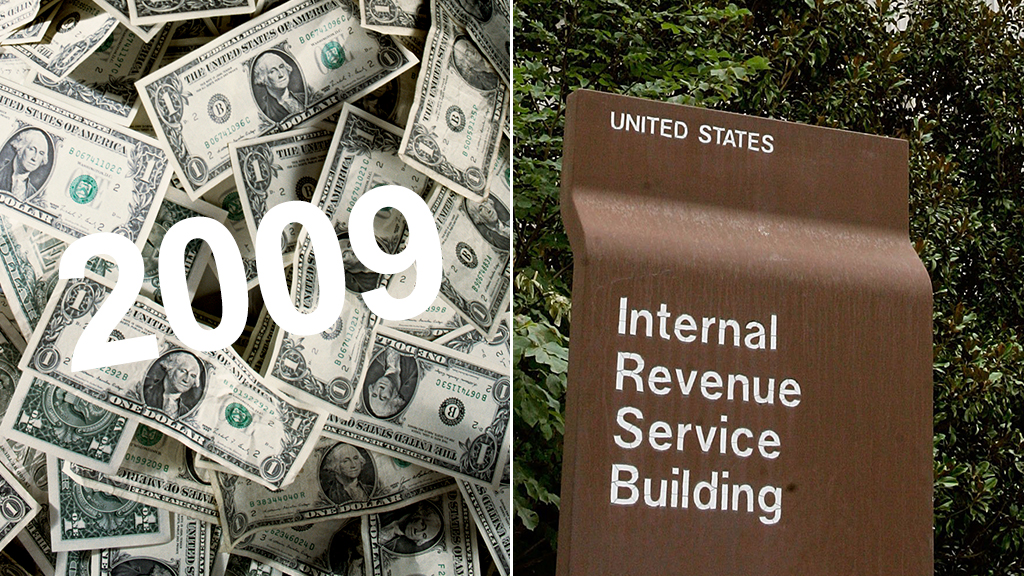2009 unclaimed tax refunds irs