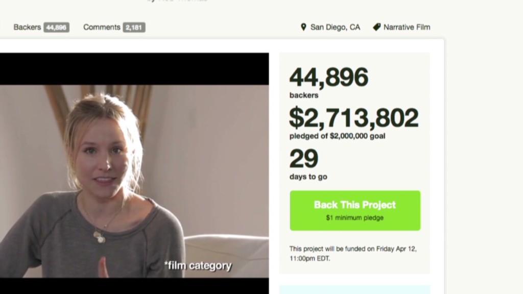 Hollywood's new funding model: Kickstarter
