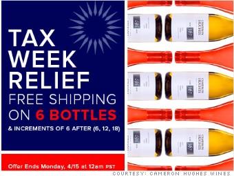 tax day freebies cameron hughes wines