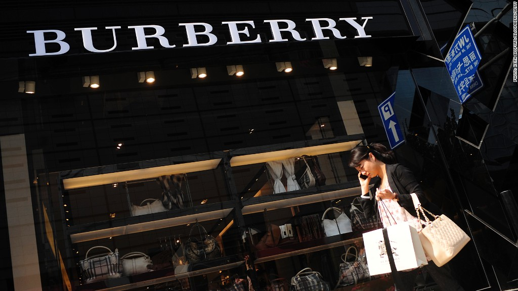 Burberry slumps as Chinese cut back on luxury shopping