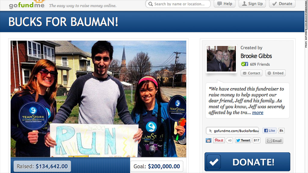 gofundme buck for bauman
