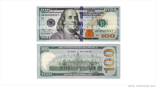 POLL: Do you like the design of the new $100 bill? - CNNMoney 100 Dollar Bill 2013 Back