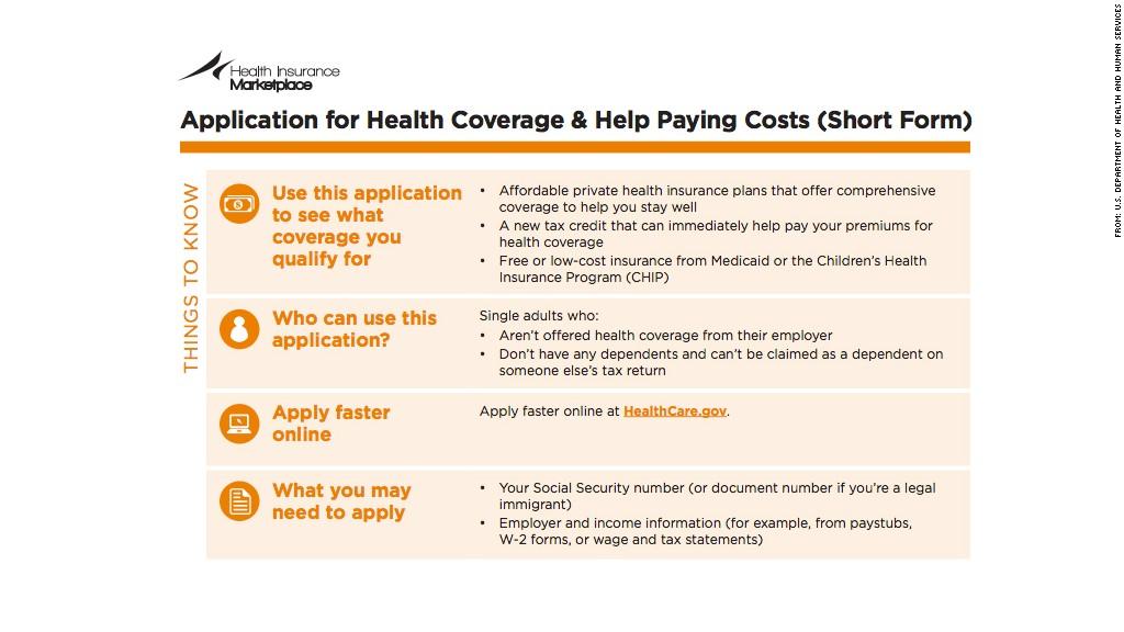 health insurance marketplace form