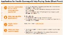 Here's the form to apply for Obamacare coverage