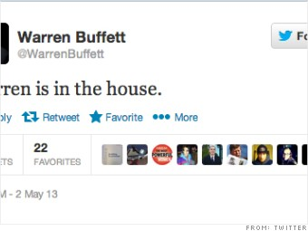 first tweet warren buffett