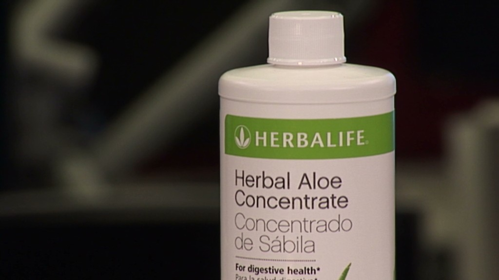 Herbalife soars. Get Bill Ackman a vitamin?