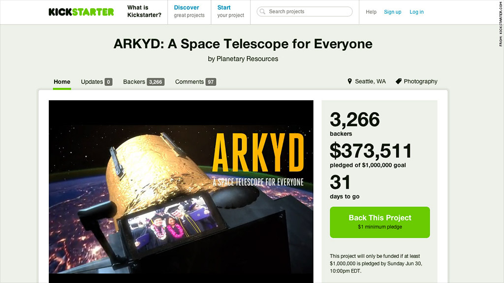 arkyd space telescope