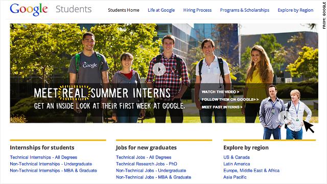 Interns at Google probably make more than you
