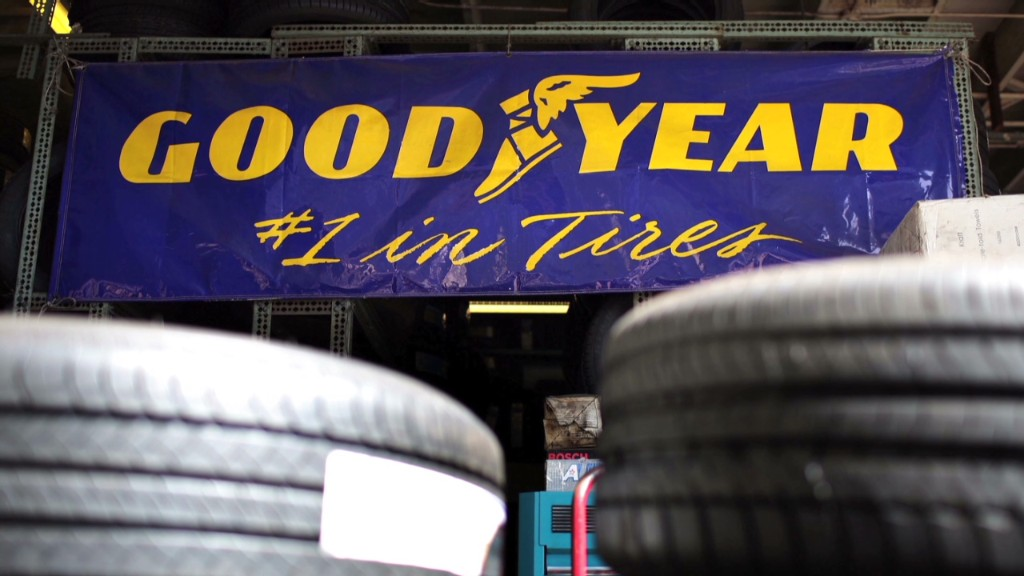 Goodyear stock rising like its blimp